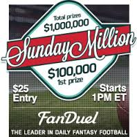 Week 9 NFL Sunday million has $3,000,000 in Prizes at FanDuel